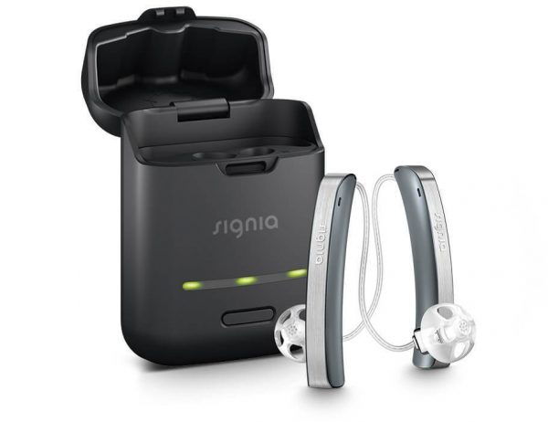 Signia Styletto slim hearing aid charger rechargeable